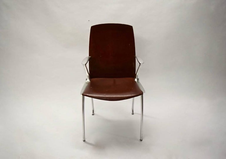 Six Dining Chairs Attributed to Philippe Starck, circa 1985 For Sale 2