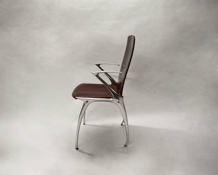 Six Dining Chairs Attributed to Philippe Starck, circa 1985 For Sale 3