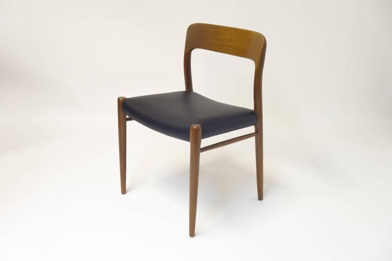 Danish 6 Dining Chairs Model 75 by J.L. Moeller, Denmark, circa 1960