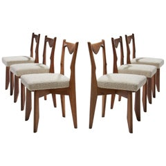 6 Dinner Chairs by Guillerme et Chambron, France, 1960s