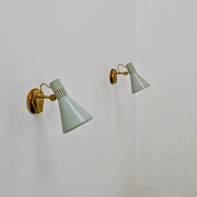 (6) Directional Stilnovo Sconces For Sale 4