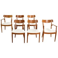 6 Drexel Declaration Walnut Dining Chairs by Kipp Stewart & Stewart MacDougall