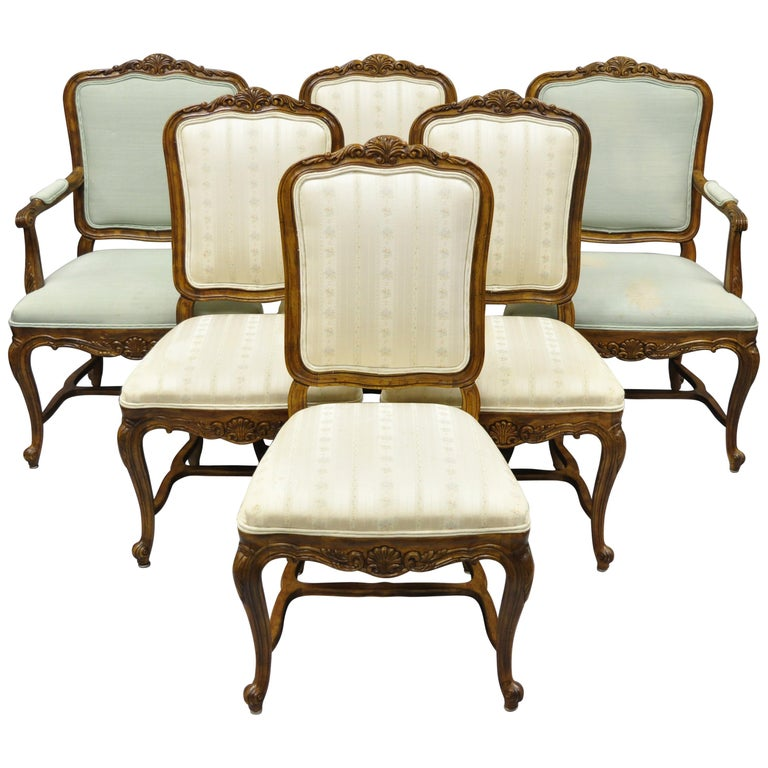 Drexel Heritage Dining Room Set: 6 Drexel Heritage Old Continent French Provincial Louis XV