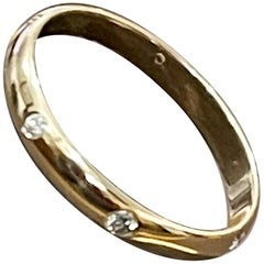 6 Flush Set Bezel Diamond Eternity Wedding Band in 14 Karat Yellow Gold