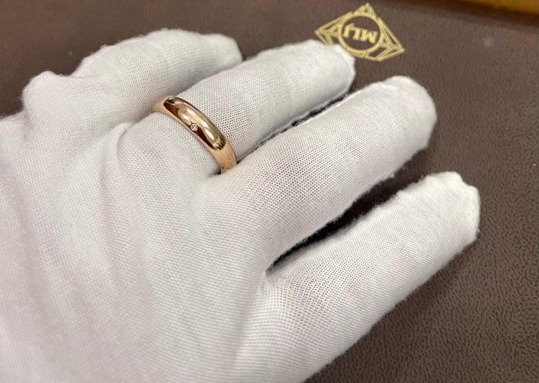 6 Flush Set Bezel Diamond Eternity Wedding Band in 18 Karat Yellow Gold For Sale 3
