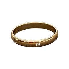 6 Flush Set Bezel Diamond Eternity Wedding Band in 18 Karat Yellow Gold