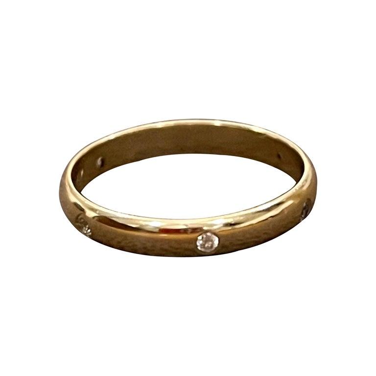 6 Flush Set Bezel Diamond Eternity Wedding Band in 18 Karat Yellow Gold For Sale