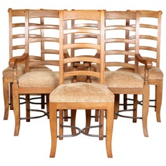 6 French Carved Dining Chairs
