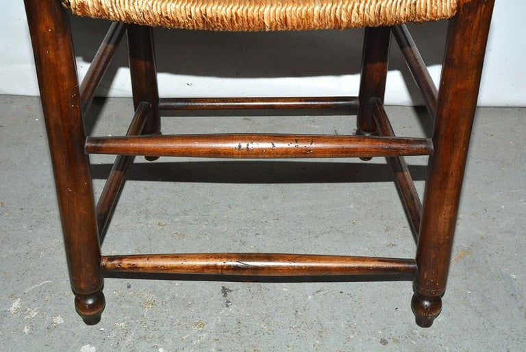 6 French Provincial Country Style Ladder Back Dining Chairs For Sale 5