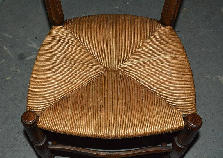 6 French Provincial Country Style Ladder Back Dining Chairs For Sale 7