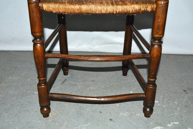 6 French Provincial Country Style Ladder Back Dining Chairs For Sale 3