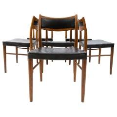 6 Gemla  Teak Dining chairs Sweden 1960s