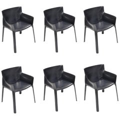 6 Giancarlo Vegni for Fasem 'P90' Leather Chairs