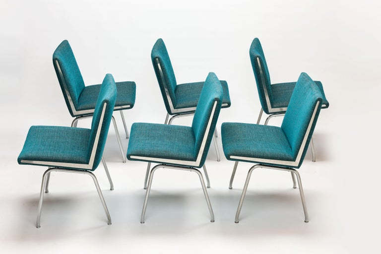 6 Hans J. Wegner Dining Chairs by A.P. Stolen, New Upholstery's For Sale 4