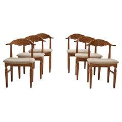 6 Henning Kjærnulf Dining Chairs, Denmark, 1960s