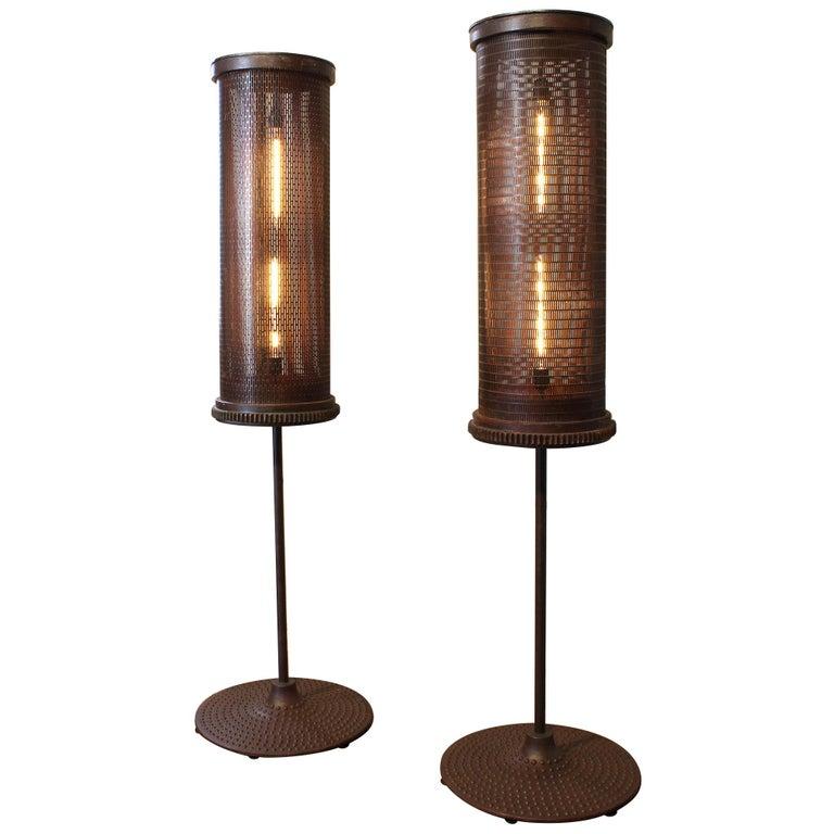 6' Industrial Floor Lamps For Sale