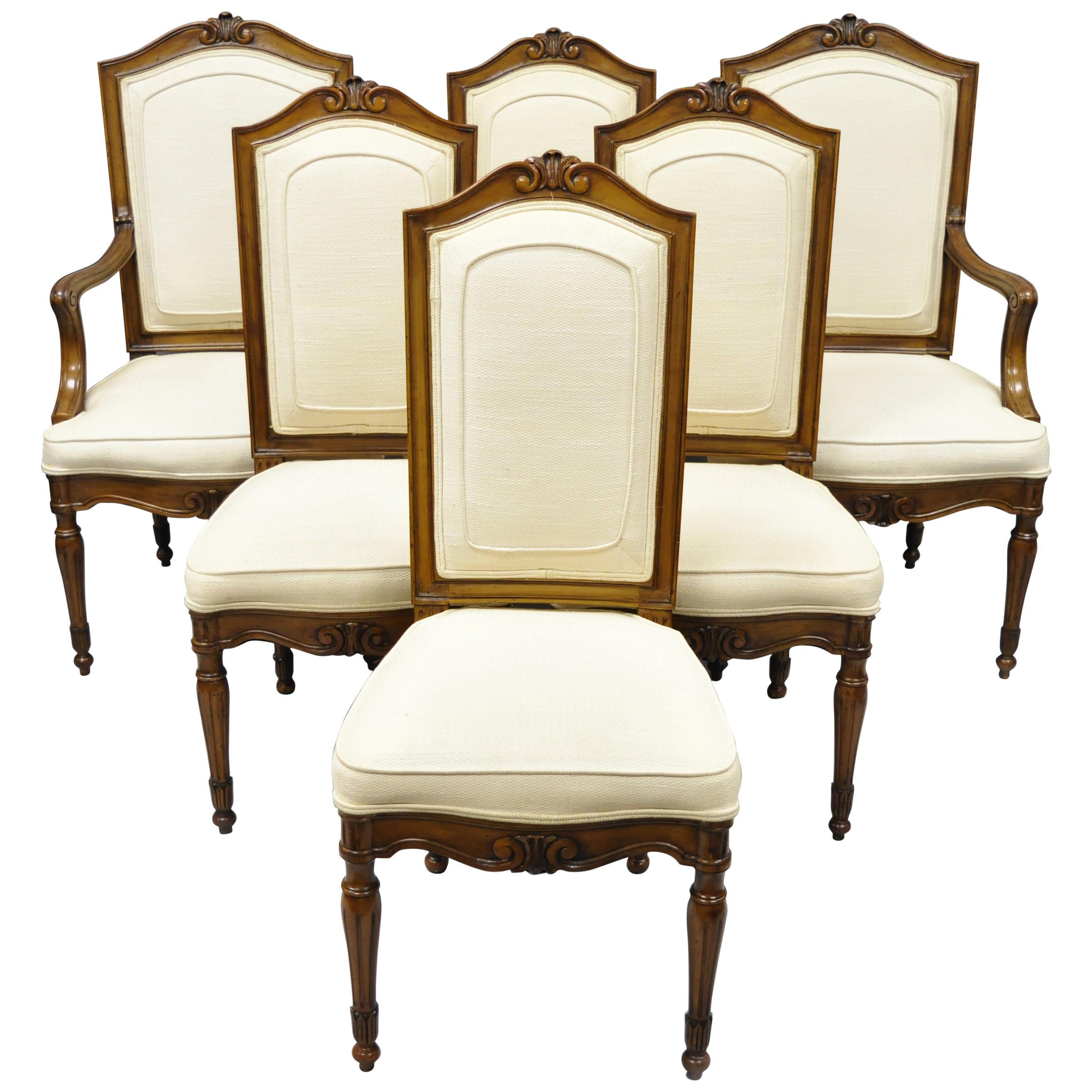 6 Italian Regency French Louis XVI Style Dining Chairs by John Widdicomb
