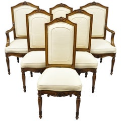 6 Italian Regency French Louis XVI Style Dining Chairs by John Widdicomb