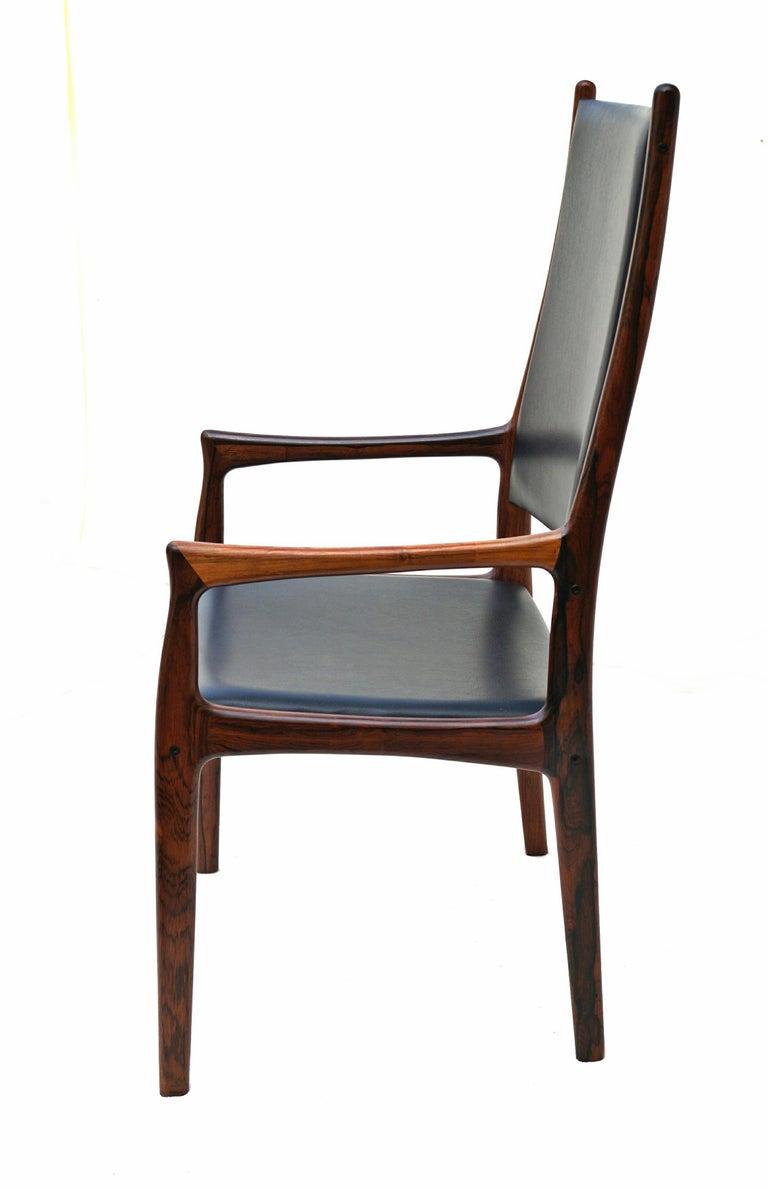 6 Johannes Andersen Danish Modern Dining Chairs Rosewood Mogens Kold Denmark In Good Condition For Sale In Wayne, NJ