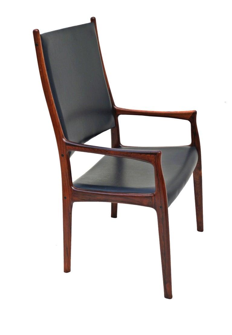 6 Johannes Andersen Danish Modern Dining Chairs Rosewood Mogens Kold Denmark For Sale 1