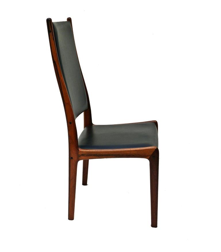 6 Johannes Andersen Danish Modern Dining Chairs Rosewood Mogens Kold Denmark For Sale 2