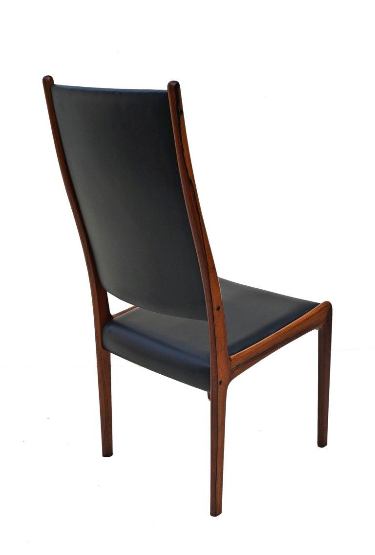 6 Johannes Andersen Danish Modern Dining Chairs Rosewood Mogens Kold Denmark For Sale 3