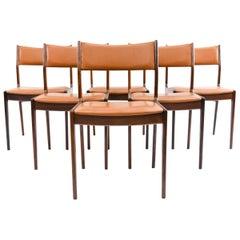 '6' Johannes Andersen for Uldum Mobelfabrik Rosewood Dining Chairs