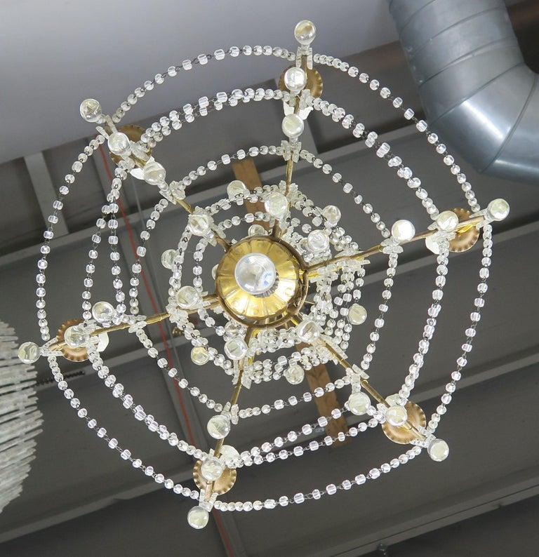6-Light Italian Crystal Beaded Chandelier For Sale 3