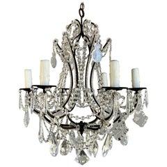 6-Light Italian Crystal Beaded Chandelier