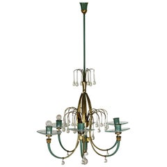 6 Lights Fontana Arte Chandelier