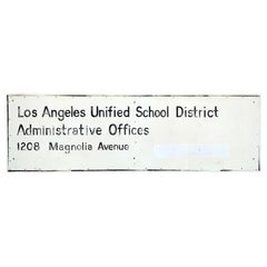 Los Angeles Unified School District Sign