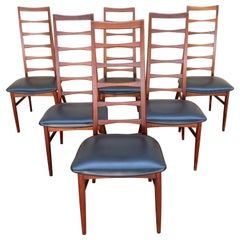 6 Lovely Niels Kofoed Style Teak Danish Modern Ladderback LIZ Chair