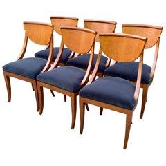 6 Maple Italian Deco Dining Chairs