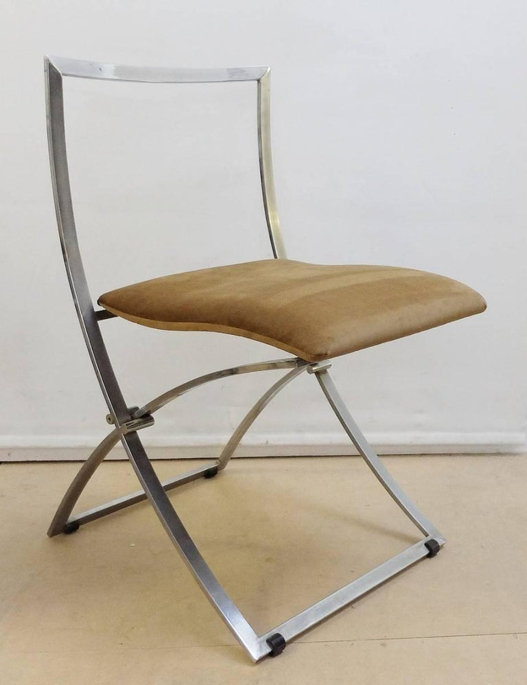 Marcello Cuneo folding chair 'Model Luisa' for Mobel Italia, set of six   Marcello Cuneo was an italian industrial designer during the 1960s. His work becomes famous in the whole world because of the high quality of his products.