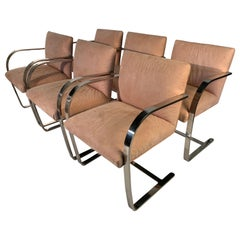 6 Mies van der Rohe style Cantilever Brno Dining Chairs, Italy circa 1970
