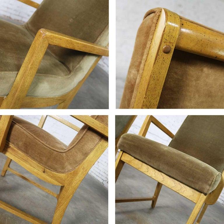 6 Modern Style Vintage Dining Chairs Velvet Scoop Seats