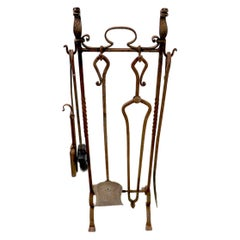 6-Piece Gothic Revival Fireplace Tool Set after Yellin