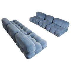6-Piece Blue Camaleonda Sofa by Mario Bellini for B&B Italia