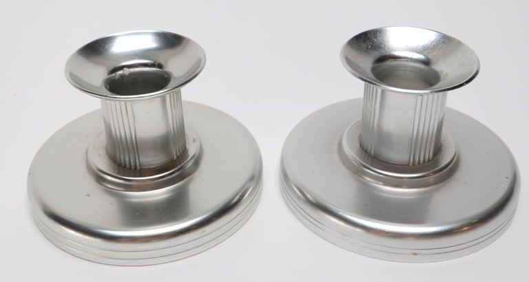 Aluminum Six-Piece Kensington Aluminium and Brass Table Accessories For Sale