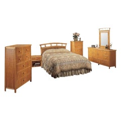 "6-Piece Stick Rattan ""Baja"" Bedroom Set with Rattan Pulls"