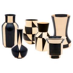 6 Pieces HB-Ritz Vase Set Bauhaus Centennial Edition by Hedwig Bollhagen