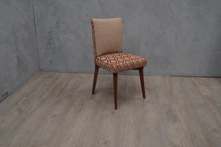 Mid-Century Modern 6 Pierluigi Colli Ashwood and Fabric Italian Chairs, 1950 For Sale