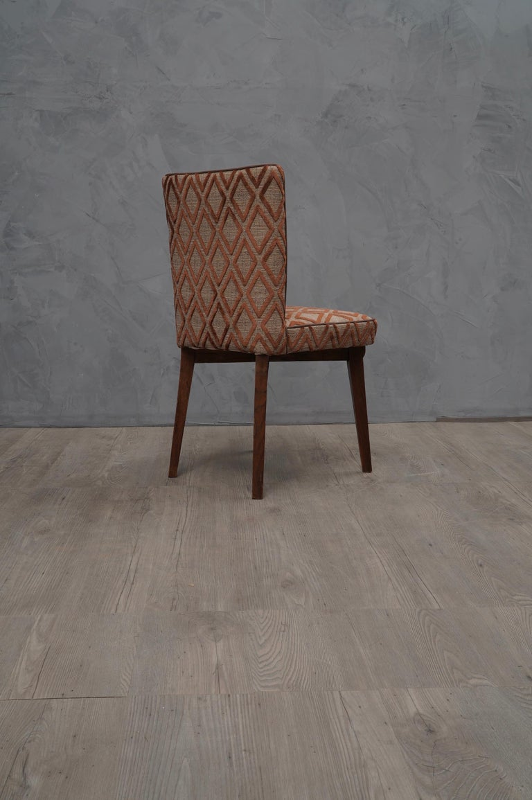 Mid-20th Century 6 Pierluigi Colli Ashwood and Fabric Italian Chairs, 1950 For Sale