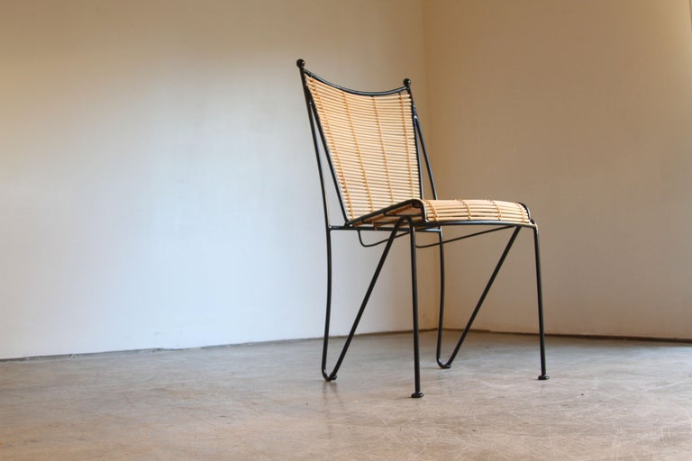 6 Pipsan Saarinen Swanson Iron And Cane Dining Chairs
