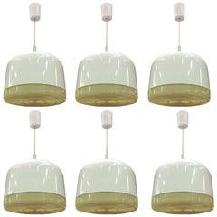 6 Plastic Pendant Lights, circa 1970