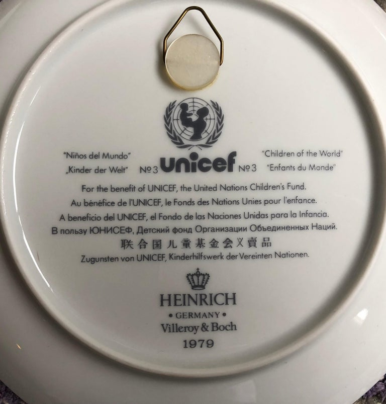 """Villeroy Boch Made In Germany: 6 Plates """"Children Of The World"""" Villeroy And Boch 1979"""