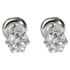 6 Prong Diamond Stud Earring in 14k White Gold G SI2 1.00 CTW