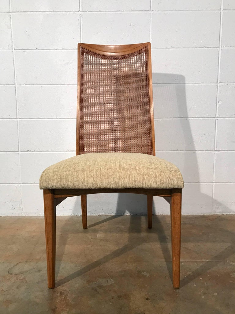 Six Quality Mid-Century Modern Dining Chairs By Heritage