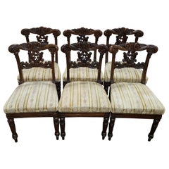 '6' R Strahan Irish Regency Rosewood Dining Chairs
