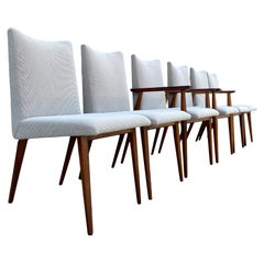 6 Rare Widdicomb Mueller Walnut Dining Chairs Attributed to George Nakashima
